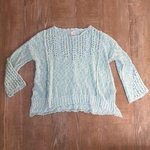 Light Mint Boho Oversized Chunky Knit Sweater